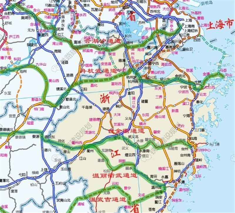 『浙江』高铁规划通苏嘉甬、甬舟、沪苏湖、衢丽等铁路动工建设(图5)