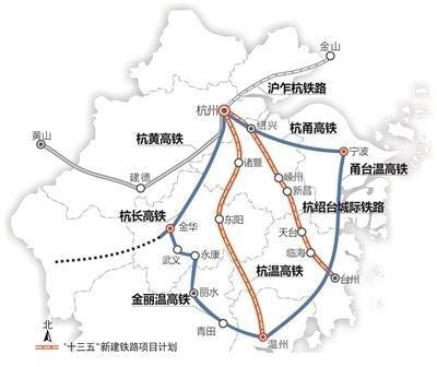 『浙江』高铁规划通苏嘉甬、甬舟、沪苏湖、衢丽等铁路动工建设(图7)